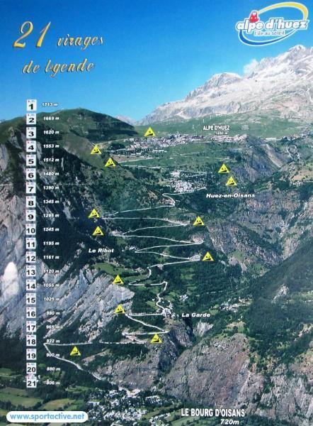 Alpe d 39 huez ride the col with 21 hairpin bends today - Office du tourisme de l alpes d huez ...
