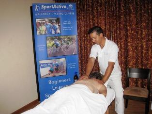 Sports massage at the SportActive Cycling Centre in Mallorca